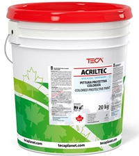 Acriltec, protective and decorative paint dispersed in water for bituminous waterproofing