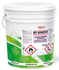 Bit Adhesive, Bituminous adhesive containing solvent for the cold adhesion of insulating panels